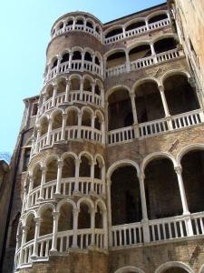 External spiral in the Palazzo Contarini del Bovolo in Venice, Italy.